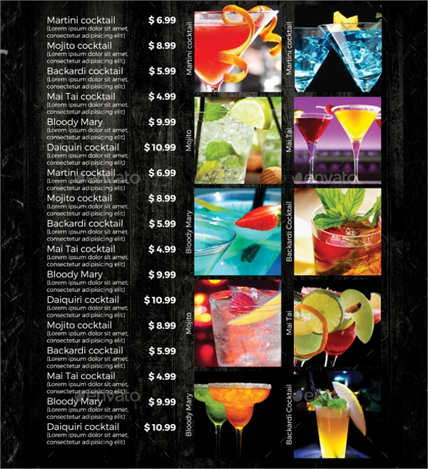 21 sample drink menu templates sample templates for Drink menu template microsoft word
