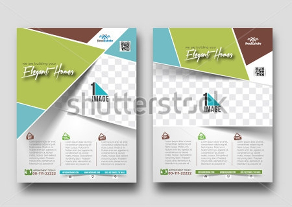 vector real estate apartment flyeer template