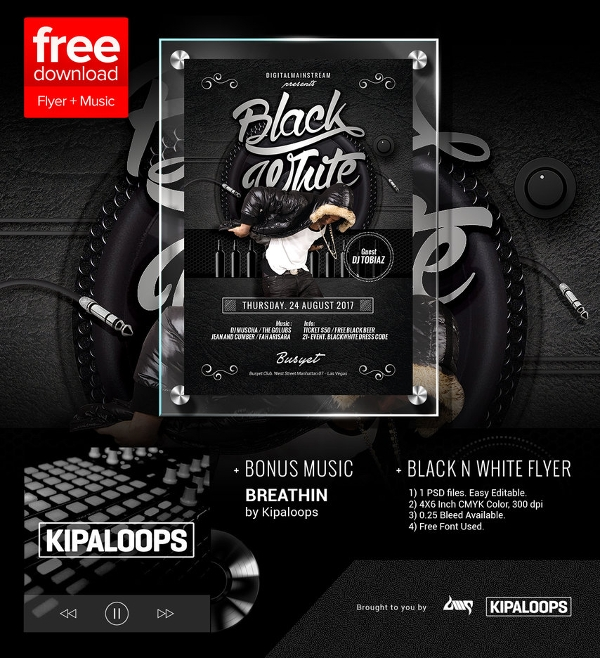 Black And White Flyer Template   Download In Vector Psd