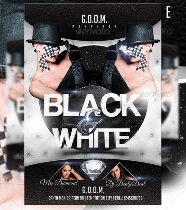 Black And White Flyer Template 21 Download In Vector PSD