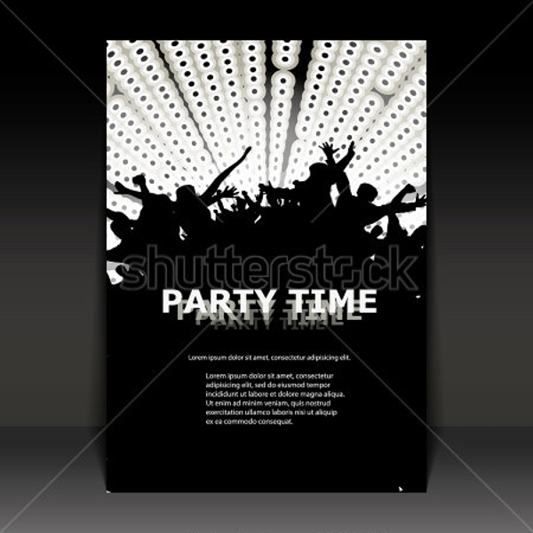 fabulous black and white party flyer