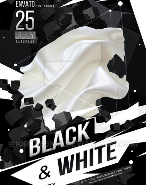 Black And White Flyer Template - Black and white flyer template free