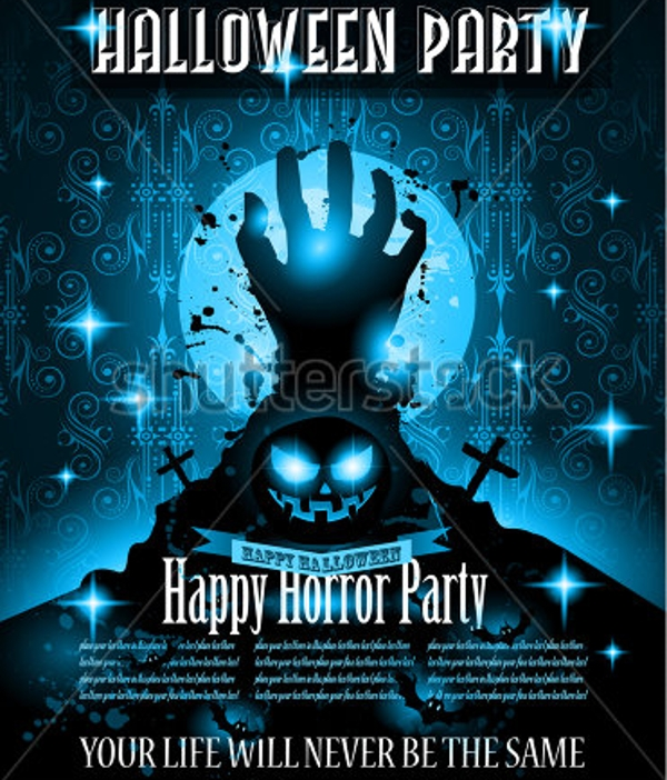 halloween night event party flyer