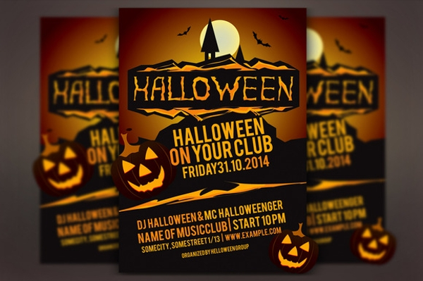 hallowen party vector flyer
