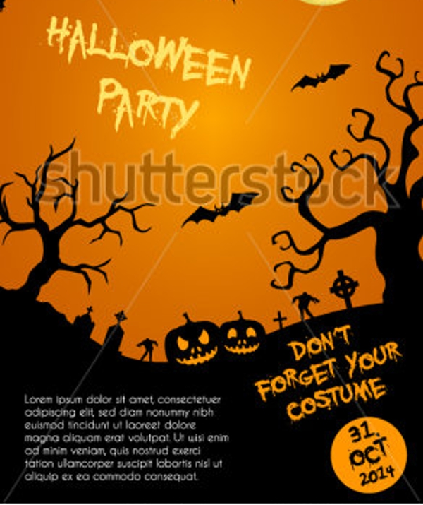 vector halloween party flyer