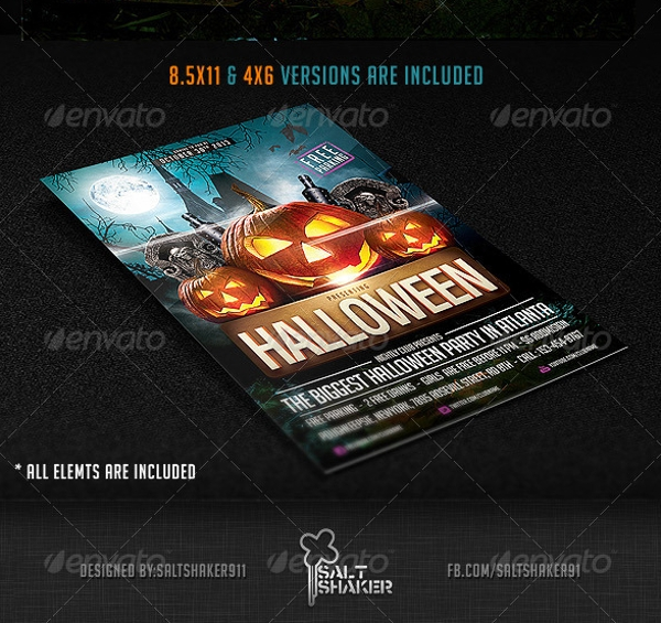 amazing hallowen party flyer1