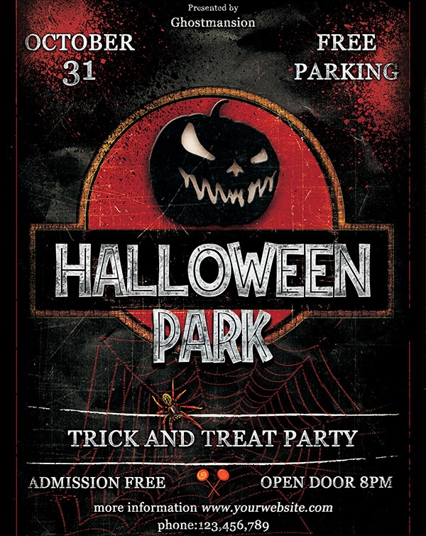 awesome hallowen party flyer