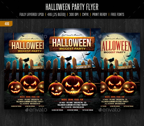 spectacular hallowen party flyer