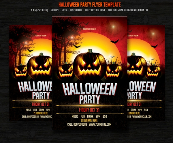 remarkable hallowen party flyer