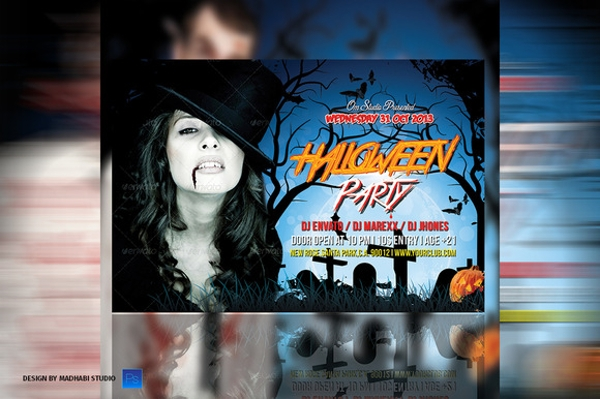 marvelous hallowen party flyer
