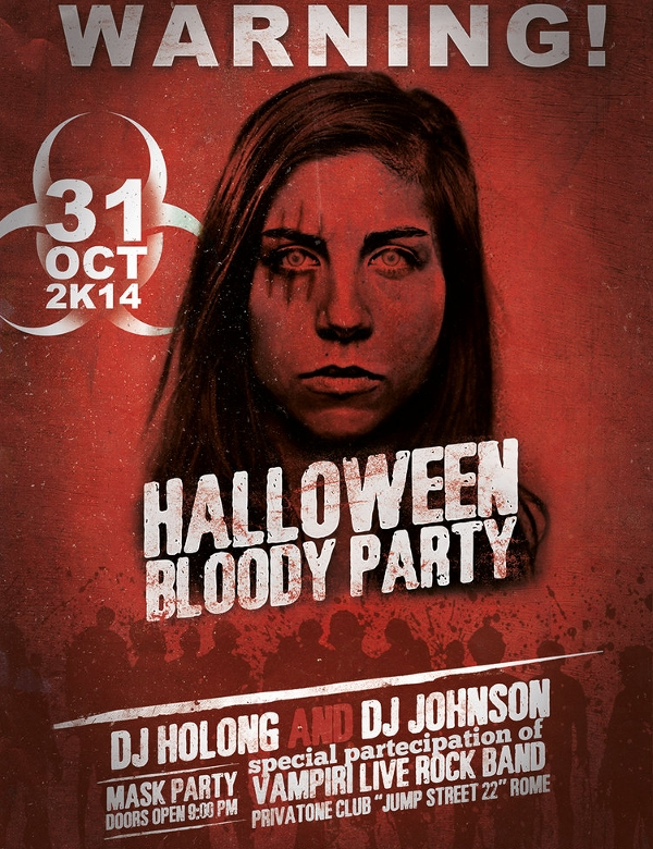 hallowen blood party flyer