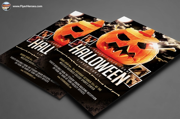 halloween party flyer template2