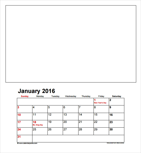 photo calendar templae