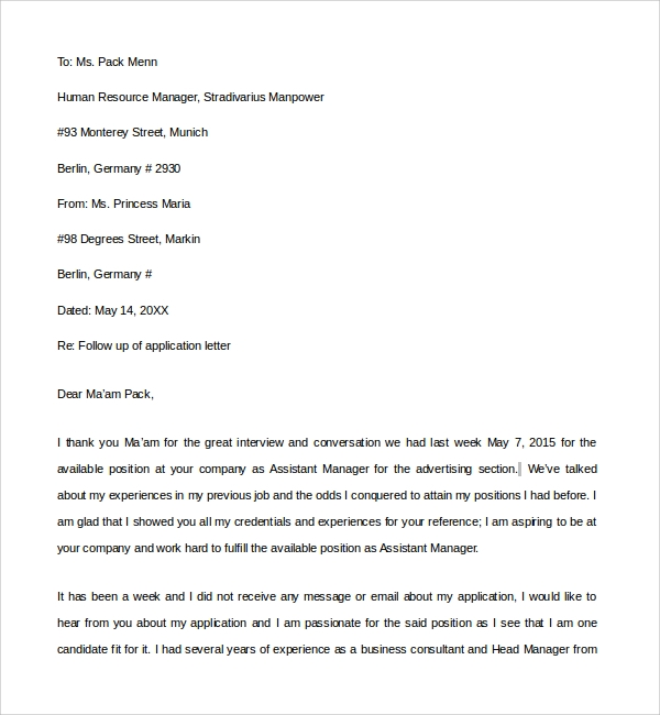 Sample Email Reference Letter Template   Free Documents In Pdf