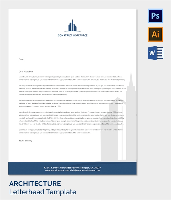architecture letter head template