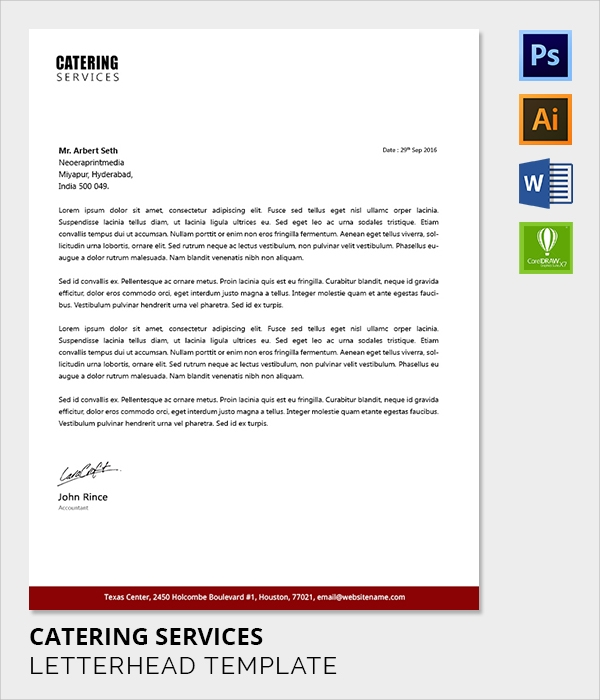 letterhead catering services1