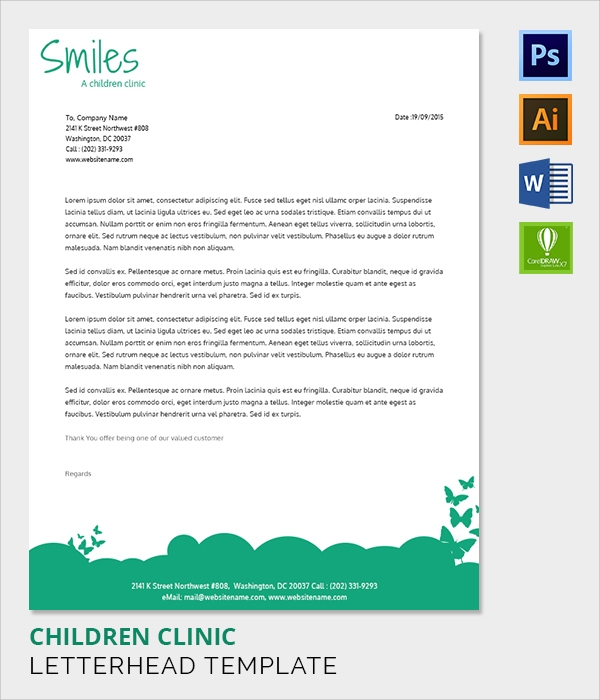 children clinic letter head template