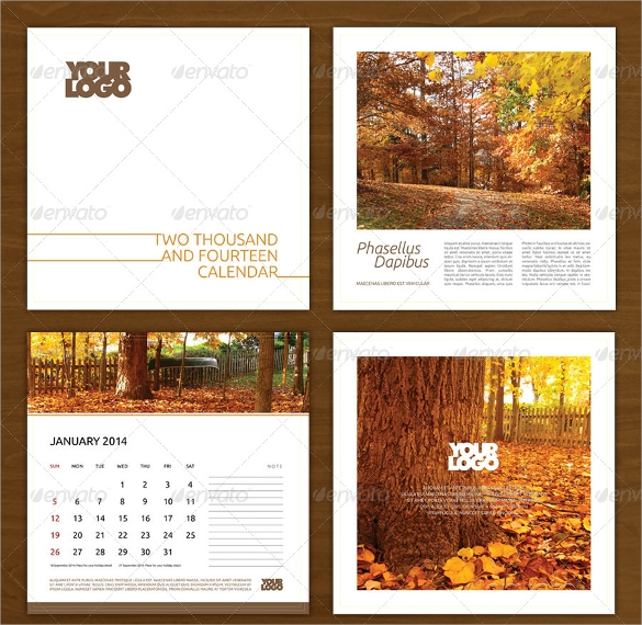 yearly calendar template psd