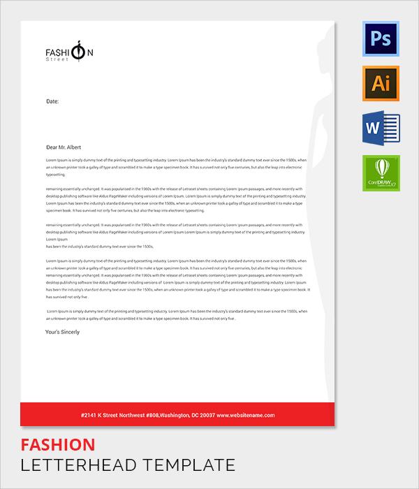 fashion letter head template