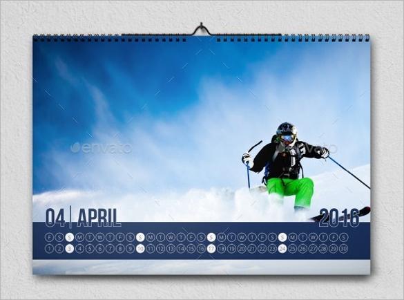 monthly calendar psd