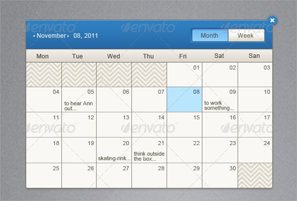 40 Calendar Templates Sample Templates
