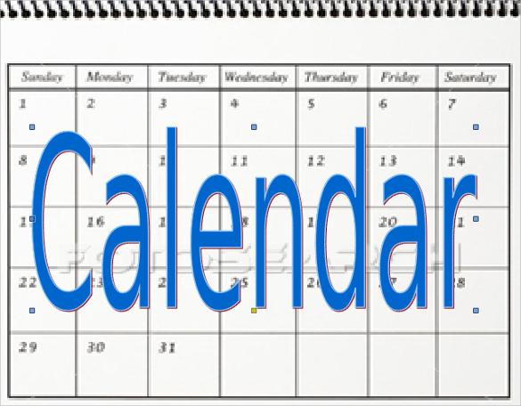 powerpoint monthly calendar
