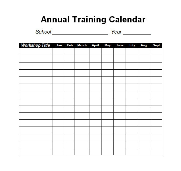 40 calendar templates sample templates for Training calendars templates