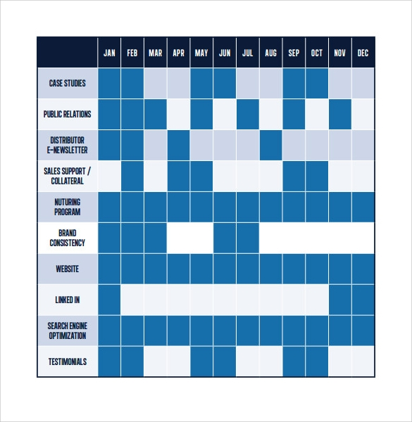 Calendar Templates Sample Templates - Public relations calendar template