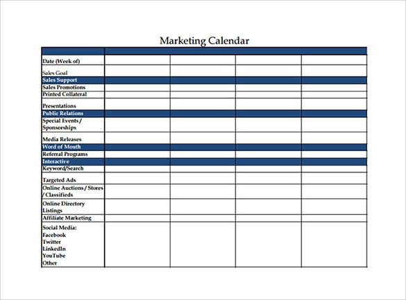 Calendar Template   Download Documents In Word Excel Pdf Psd
