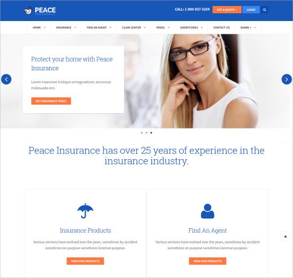 life insurance website templates on insurance agency web templates