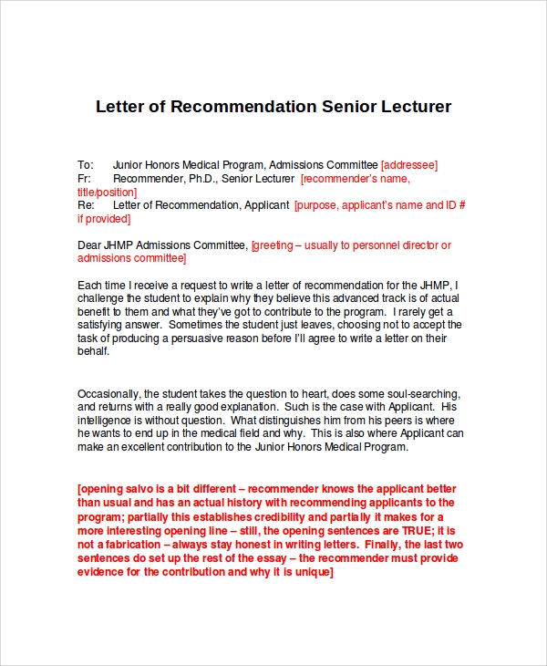 Sample Letter of Recommendation 22 Free Documents in Doc – Certificate of Recommendation Sample