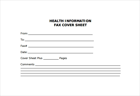 Sample Fax Cover Sheet 27 Free Documents in PDF Word – Fax Cover Sheet Free Template