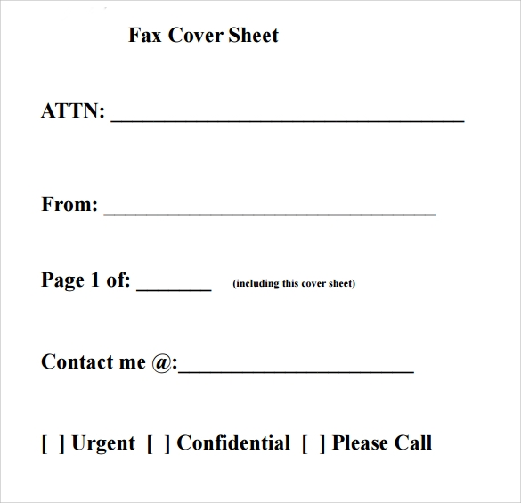 Basic Fax Cover Sheet  Fax Coverletter