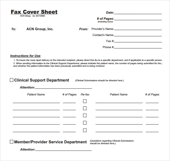 Sample Fax Cover Sheet   Free Documents In Pdf  Word