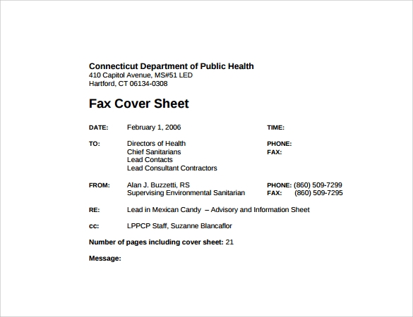 Sample Fax Cover Sheet 27 Free Documents in PDF Word – Funny Fax Cover Sheet