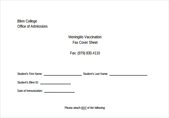 fax cover sheet for cv free