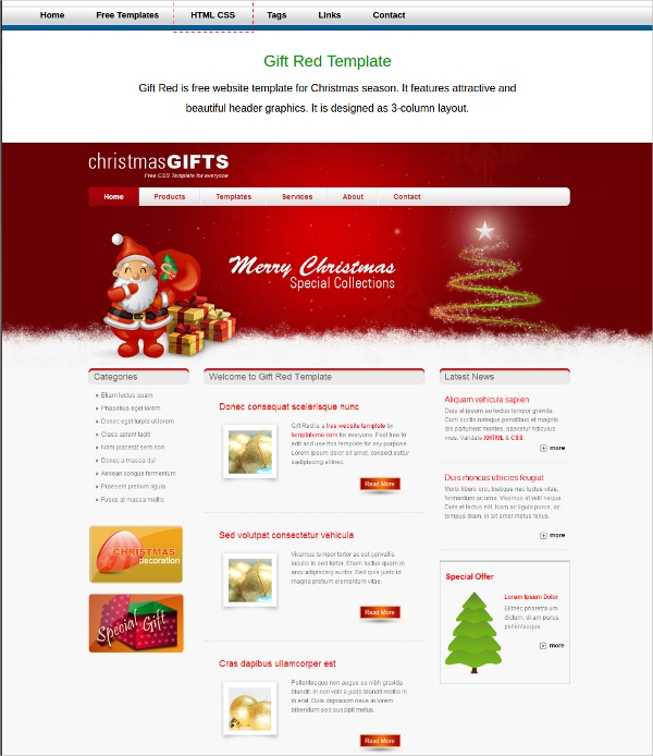 Download free multi page dreamweaver templates free for Free dreamweaver cc templates