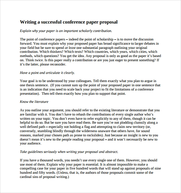 abstract in proposal writing