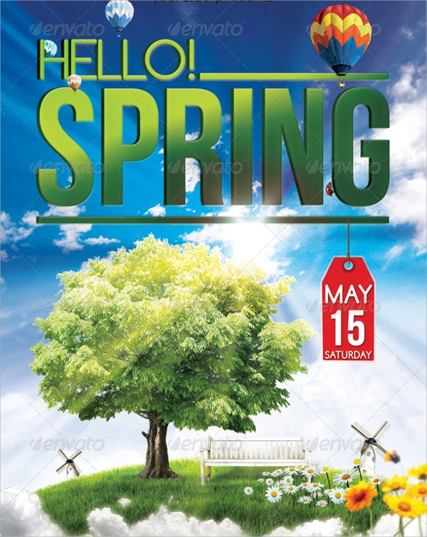 wonderful spring party flyer