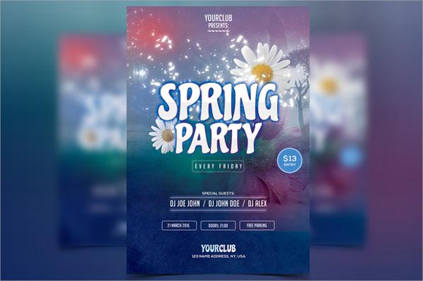 creative spring party flyer