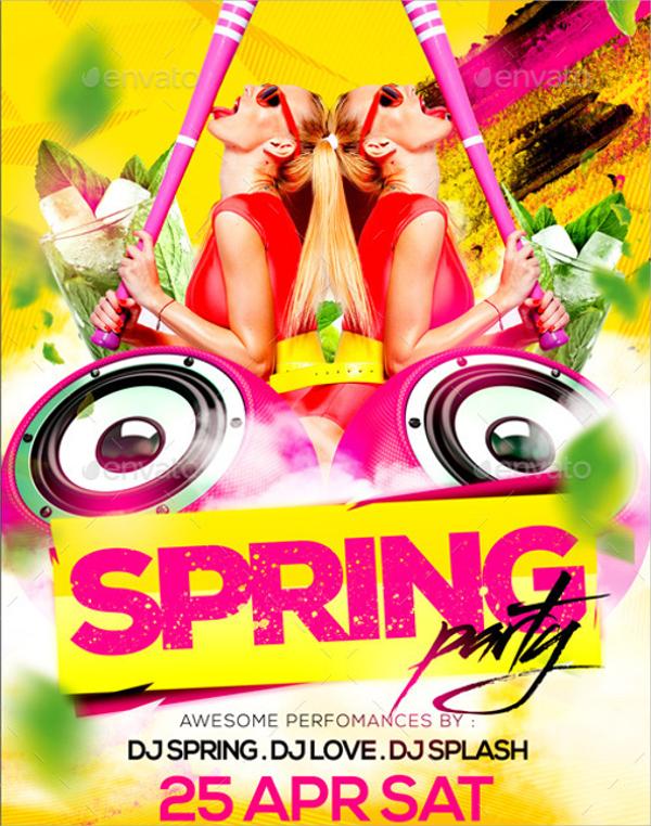 wondrous spring party flyer