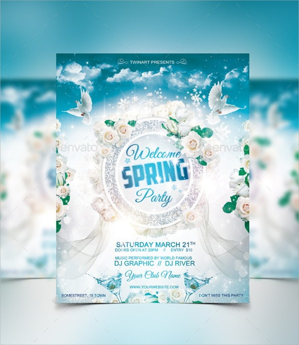 beautiful spring party flyer