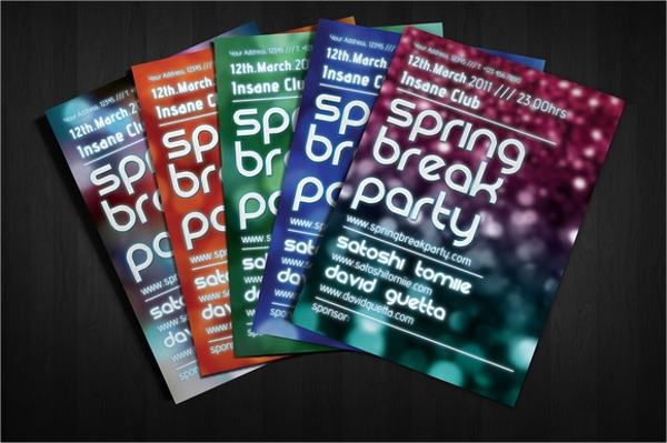 spectacular spring party flyer