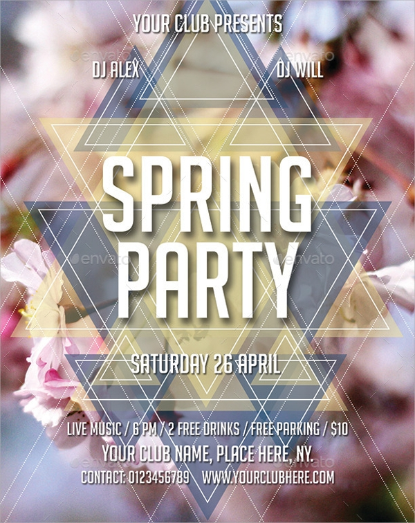 marvelous spring party flyer