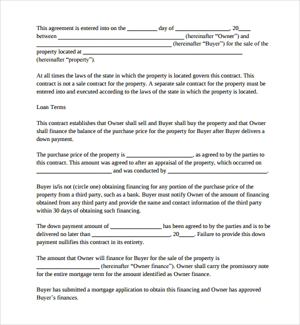 Sample Mortgage Agreement Template 9 Free Documents in PDF Word – Sample Mortgage Contract