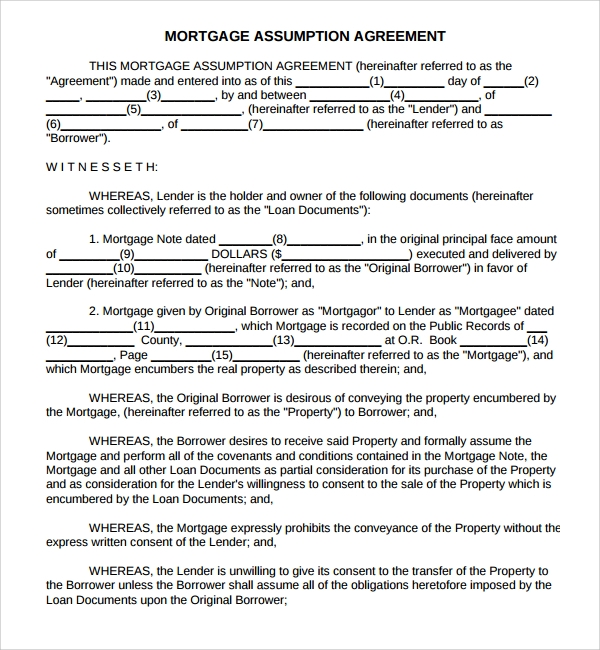 Sample Mortgage Agreement Template 9 Free Documents in PDF Word – Sample Mortgage Document