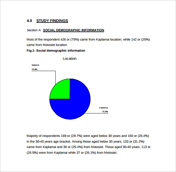 format of social demographic survey