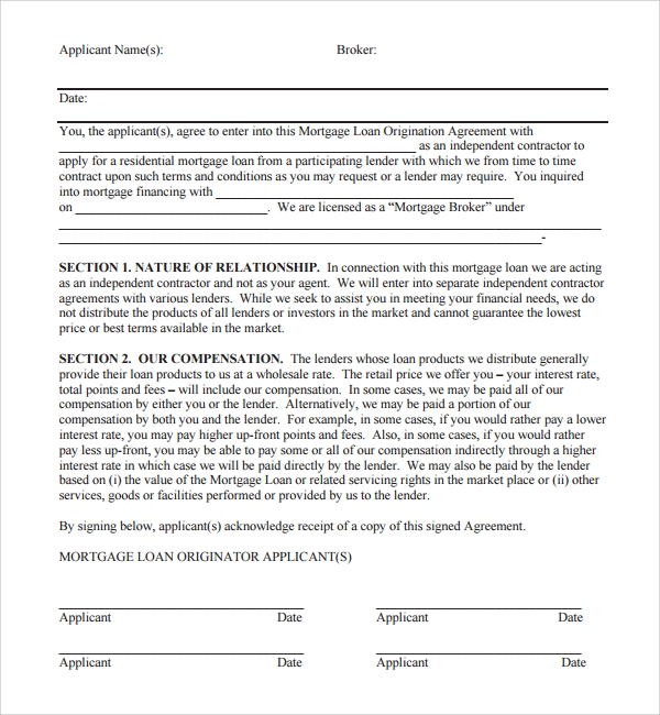Sample Mortgage Agreement Template   9+ Free Documents In Pdf, Word