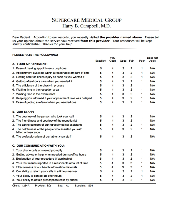 Superior Patient Feedback Survey Free PDF  Free Survey Templates