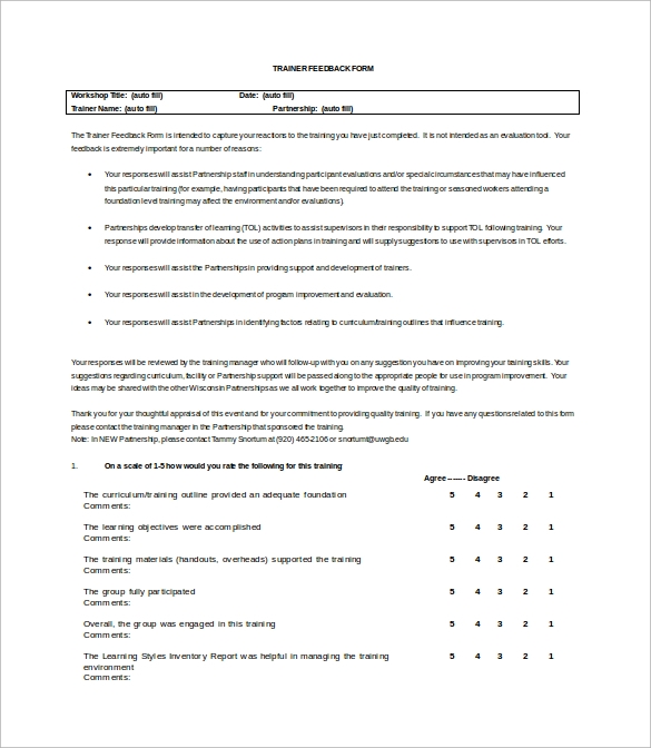 Sample Feedback Survey Template   Free Documents In WordPdf
